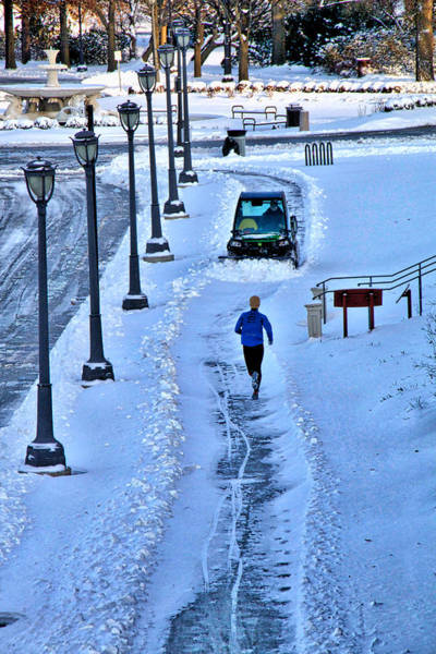 Photograph - Jogger And The Plow by Alice Gipson