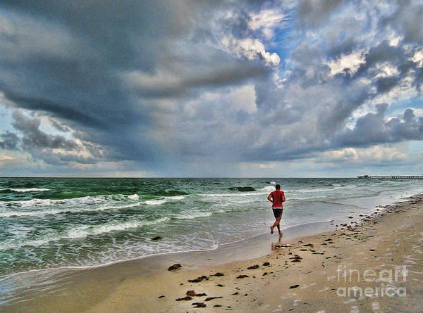 Photograph - Jogging On Sanibel Island by Jeff Breiman