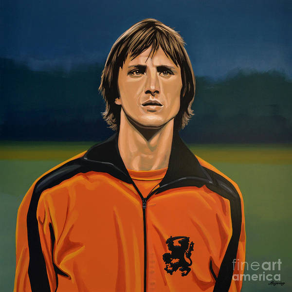 Concentration Wall Art - Painting - Johan Cruyff Oranje by Paul Meijering