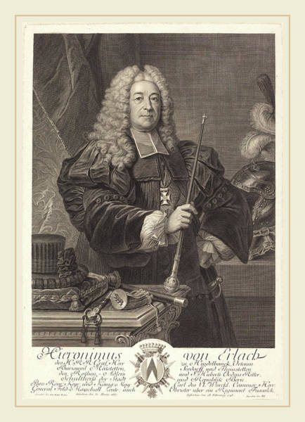 1715 Drawing - Johann Georg Wille After Carlo Francesco Rusca by Litz Collection