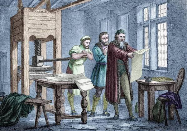 Printer Photograph - Johann Gutenberg by Michael Marten