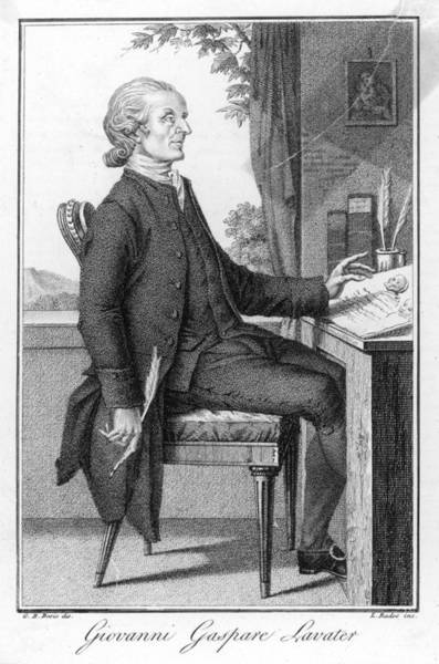 The Mystic Drawing - Johann Kaspar Lavater  Swiss Poet by Mary Evans Picture Library