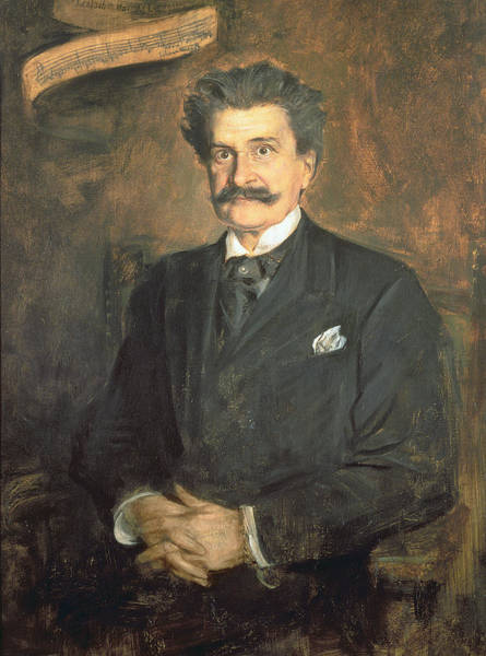 Moustaches Photograph - Johann Strauss The Younger, 1895 by Franz Seraph von Lenbach