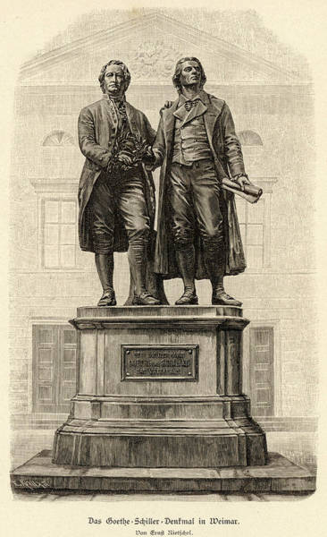 Wall Art - Drawing - Johann Wolfgang Von Goethe  Monument by Mary Evans Picture Library