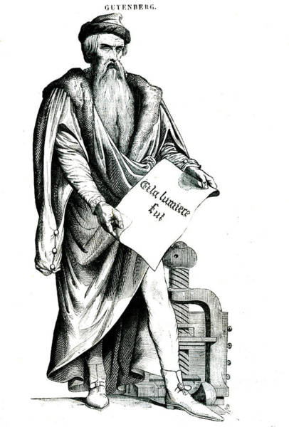 Wall Art - Photograph - Johannes Gutenberg by Collection Abecasis/science Photo Library