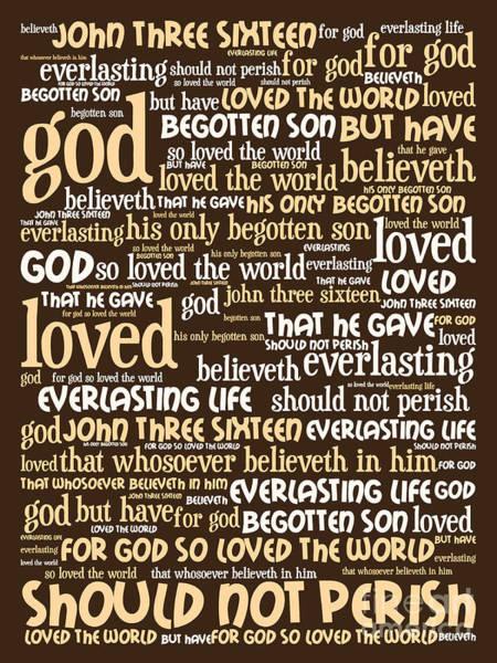 Digital Art - John 3-16 For God So Loved The World 20130622bwwa95 Vertical by Wingsdomain Art and Photography