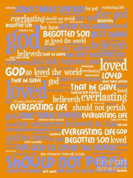 Digital Art - John 3-16 For God So Loved The World 20130622p168 Vertical by Wingsdomain Art and Photography