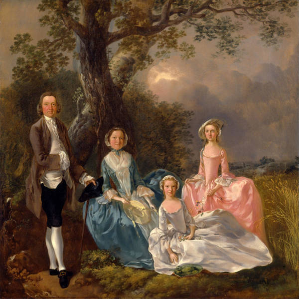 Thomas Gainsborough Wall Art - Painting - John And Ann Gravenor With Their Daughters by Thomas Gainsborough