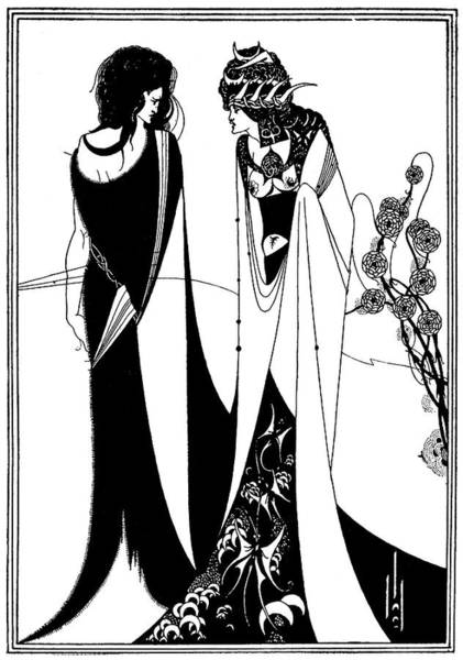 Beardsley Drawing - John And Salome by Mary Evans Picture Library