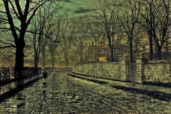 Painting - John Atkinson Grimshaw November 1879 A by Movie Poster Prints