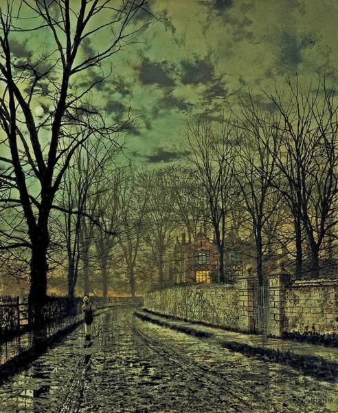 Painting - John Atkinson Grimshaw November 1879 by Movie Poster Prints