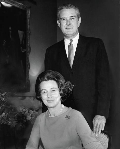 Husband Photograph - John B Connally And Idanell Connally by Horst P. Horst