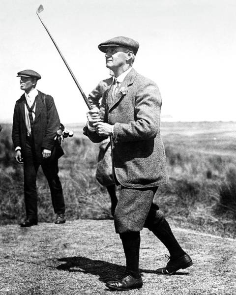 Golf Club Photograph - John Ball Playing Golf by Artist Unknown