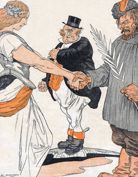 Olive Branch Drawing - John Bull Is Put Out By Brest- Litovsk by Mary Evans Picture Library