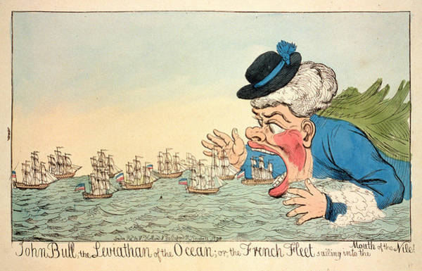 Wall Art - Drawing - John Bull, The Leviathan Of The Ocean Or The French Fleet by Litz Collection