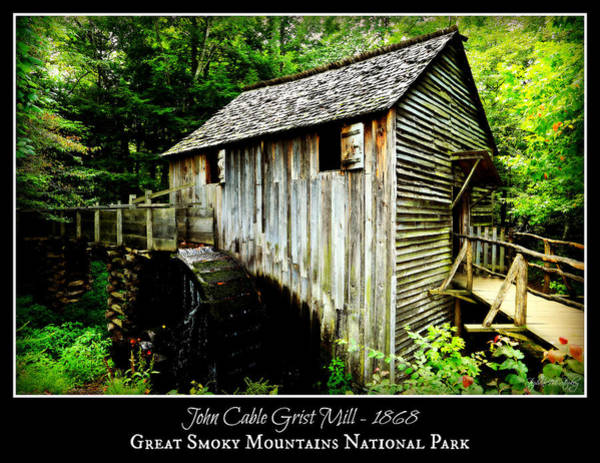Millrace Wall Art - Photograph - John Cable Grist Mill - Poster by Stephen Stookey