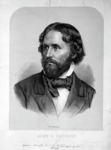 Republican Party Photograph - John Charles Fremont by Library Of Congress/science Photo Library