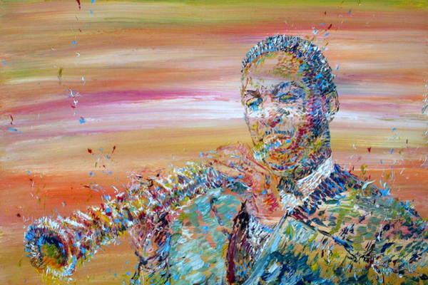 Sax Painting - John Coltrane by Fabrizio Cassetta