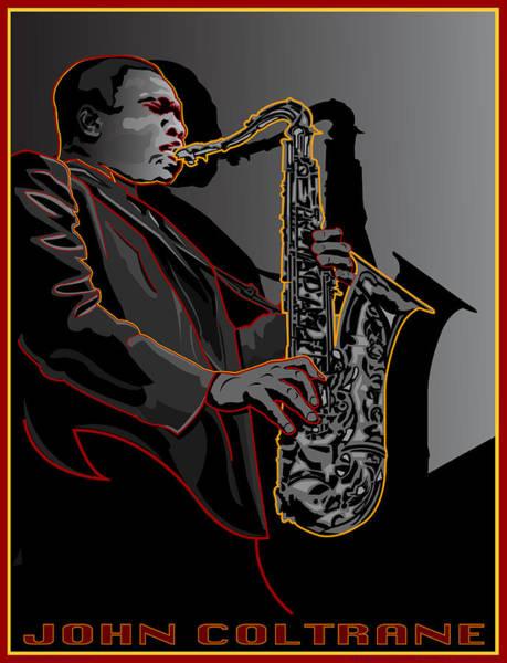 Wall Art - Digital Art - John Coltrane Jazz Saxophone Legend by Larry Butterworth