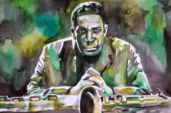 John Coltrane Wall Art - Painting - John Coltrane - Watercolor Portrait by Fabrizio Cassetta
