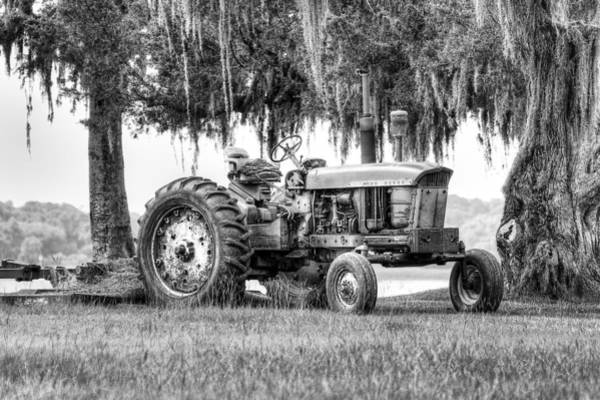 Photograph - John Deer Tractor Under The Old Cedar by Scott Hansen