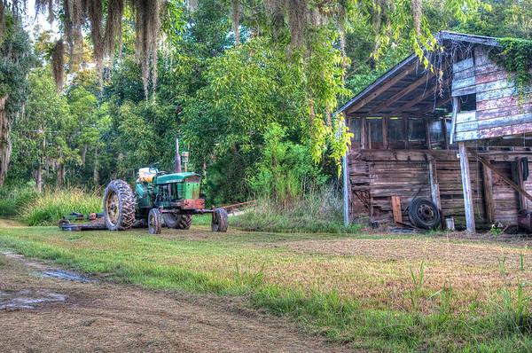 Photograph - John Deere - Old Tractor Shed by Scott Hansen