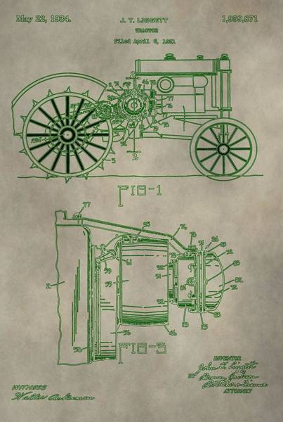 Digital Art - John Deere Patent by Dan Sproul