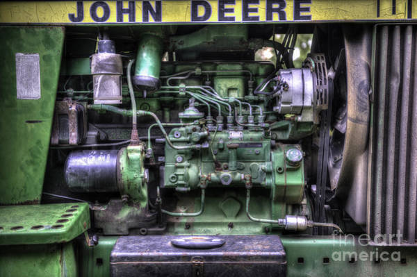 Photograph - John Deere Tractor Engine by Dale Powell