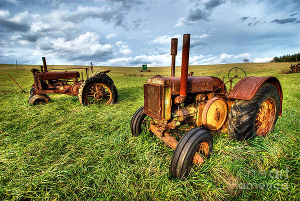 Wall Art - Photograph - John Deere Tractors I - Blue Ridge by Dan Carmichael