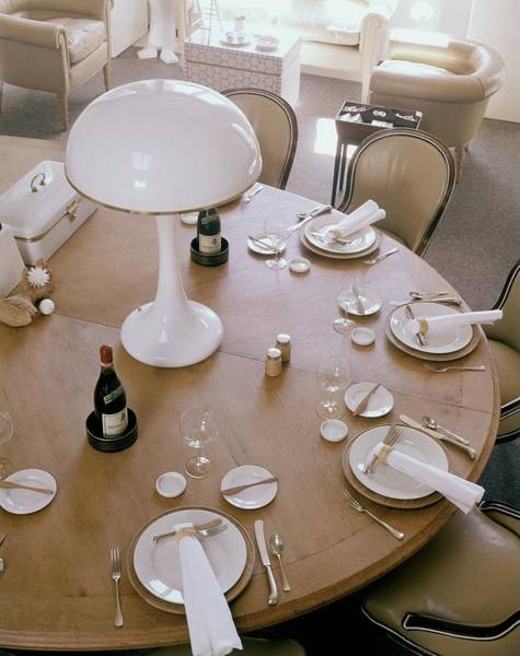 Home Accessories Photograph - John Dickinson's Dining Table by Fred Lyon