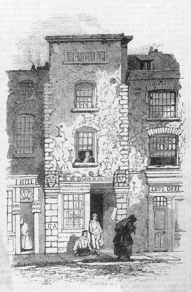 John Dryden Wall Art - Drawing - John Dryden  English Poet's House by Mary Evans Picture Library