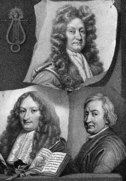 John Dryden Wall Art - Drawing - John Dryden  Three Portraits by Mary Evans Picture Library