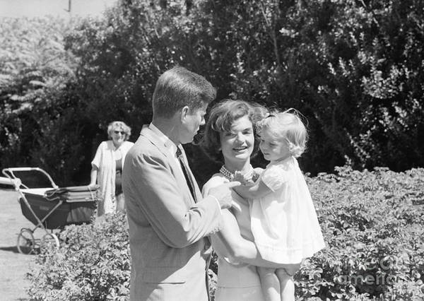 Hyannis Photograph - John F. Kennedy Jacqueline And Caroline by The Harrington Collection