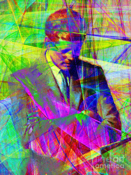 Photograph - John Fitzgerald Kennedy Jfk In Abstract 20130610v2 by Wingsdomain Art and Photography