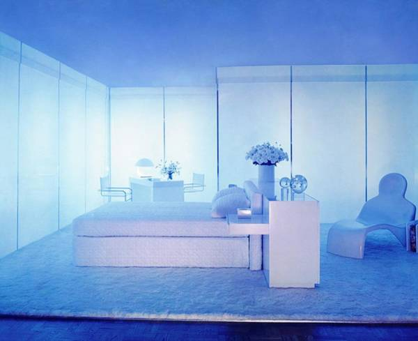 Blue Flower Photograph - John Harris Lighting In A Bedroom by William Grigsby