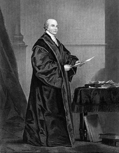 Wall Art - Drawing - John Jay  American Statesman, First by Mary Evans Picture Library