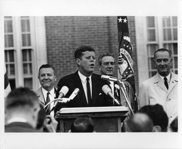 Wall Art - Photograph - John Kennedy In Fort Worth 11-22-63 by Retro Images Archive