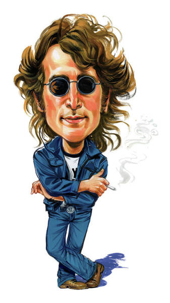 Laughter Wall Art - Painting - John Lennon by Art
