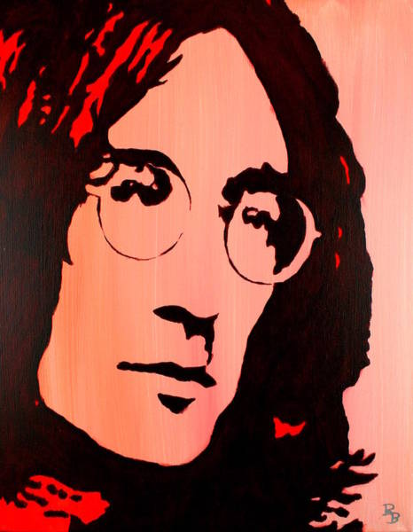 Painting - John Lennon Beatles Pop Art by Bob Baker