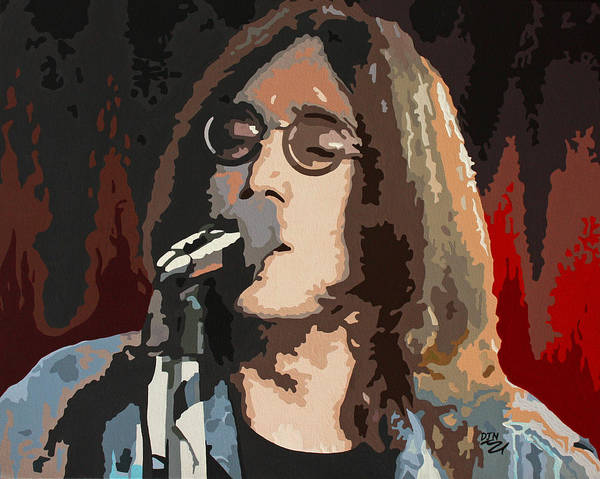 Bass Guitar Painting - John Lennon by Dennis Nadeau