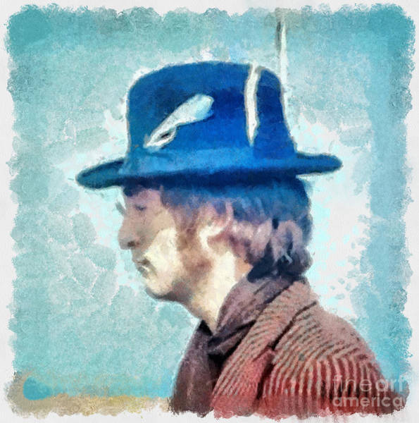 Photograph - John Lennon - Feathers In His Hat by Paulette B Wright