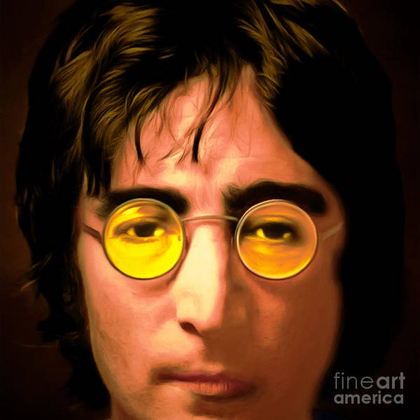 Photograph - John Lennon Imagine 20150305 Square by Wingsdomain Art and Photography