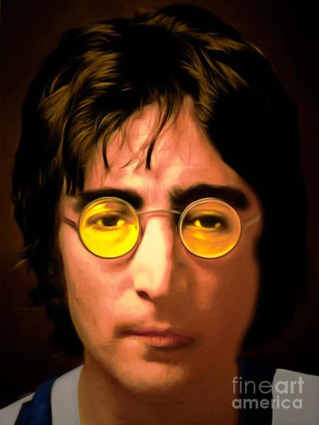 Wall Art - Mixed Media - John Lennon Imagine 20150305 by Wingsdomain Art and Photography