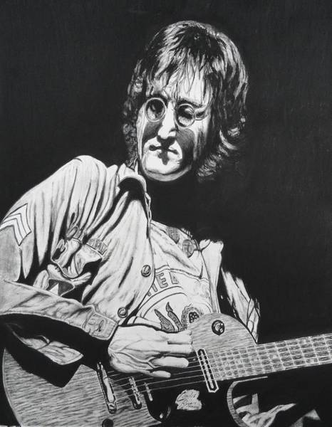 Wall Art - Drawing - John Lennon Madison Square Garden by Charles Rogers
