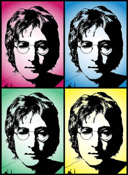 Strawberry Fields Wall Art - Digital Art - John Lennon Pop Art Panel by Daniel Hagerman