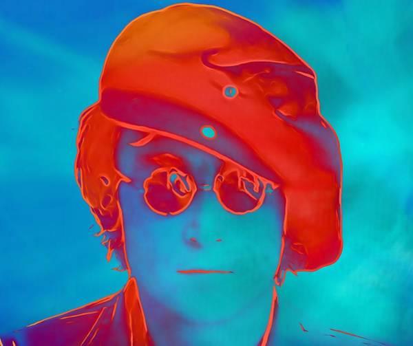 Wall Art - Digital Art - John Lennon Pop Art Portrait by Dan Sproul
