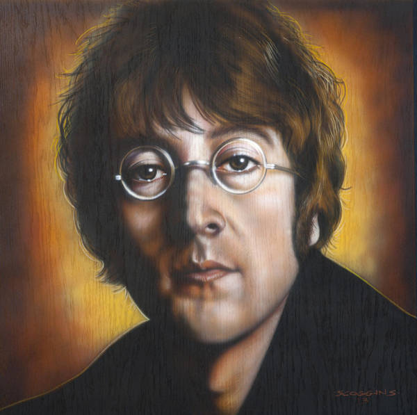 Wall Art - Painting - John Lennon by Timothy Scoggins