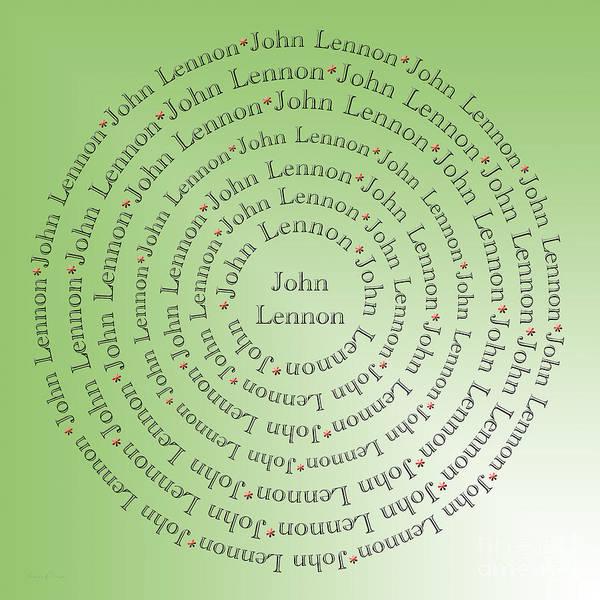 Digital Art - John Lennon Typography by Andee Design