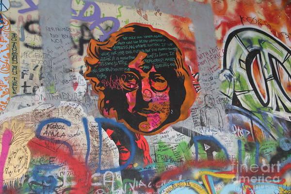 Wall Art - Photograph - John Lennon Wall B by Dennis Curry