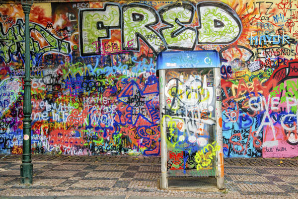 Photograph - John Lennon Wall In Prague With Colorful Graffiti by Matthias Hauser